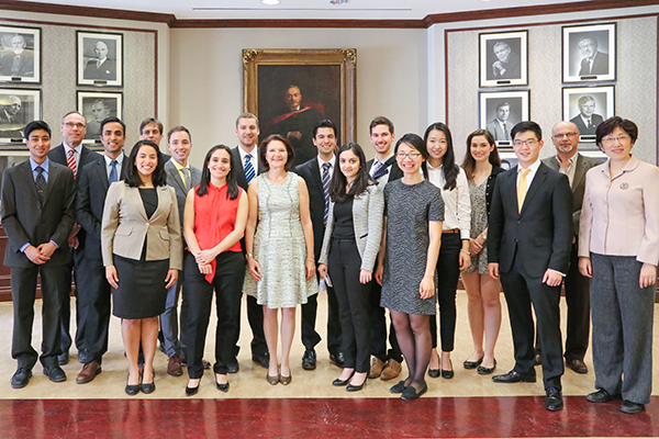 15 U of T Engineering students were honoured with Gordon Cressy Leadership Awards on April 20, 2016 in recognition of their leadership and commitment to improving the world around them. (Photo: Roberta Baker)