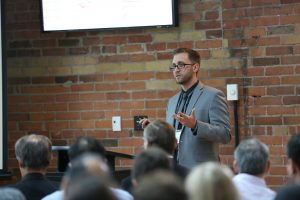 Bryan Tatone addresses the 2016 Lassonde Research Day