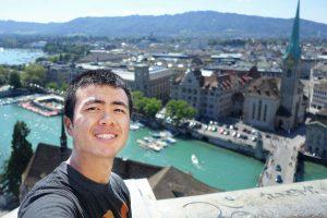 Peter Wen overlooking the city of Zurich (Photo: Peter Wen)