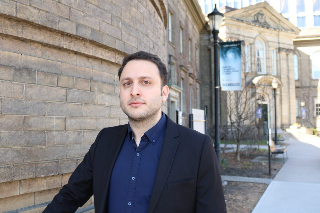 CivE PhD Candidate Pedram Mortazavi was one of just five recipients from more than 550 nominated teaching assistants from across the University of Toronto. (Photo: Keenan Dixon)