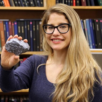 Professor Erin Bobicki (MSE, ChemE) wants to decrease the energy required for crushing rocks by 70%. (Photo courtesy of Erin Bobicki)