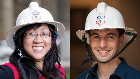 Passing of the torch: Former University of Toronto Engineering Society (EngSoc) president Teresa Nguyen and current EngSoc president Ernesto Diaz Lozano Patiño. (Photos: EngSoc)