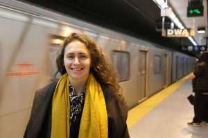 Professor Shoshanna Saxe (CivE) analyses the environmental and social impact of large public transit infrastructure projects, informing policymakers as they decide which investments to make. (Photo: Tyler Irving)