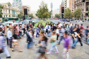 A crosswalk in Santiago, Chile (photo Mauro Mora via Unsplash)