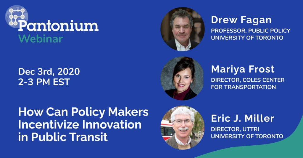 UTTRI: How Can Policy Makers Incentivize Innovation in Public Transit?