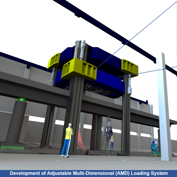 A new adjustable multi-dimensional (AMD) loading system will soon be added to U of T Engineering's Structural Testing Facility. (Image: Myron Zhong)