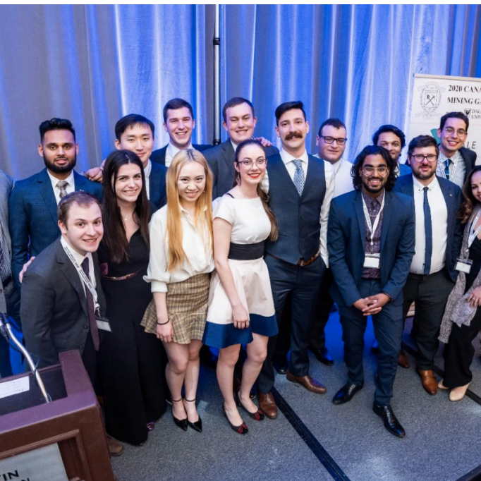 A group photo of the University of Toronto team at last year's 2020 Canadian Mining Games competition in Halifax, NS.